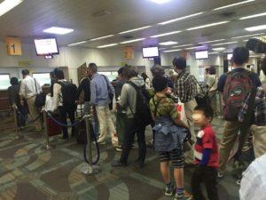 ジャカルタ スカルノハッタ空港の入国審査の列