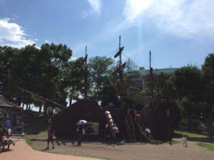 海賊船。長男のお気に入り。珍しいですもんね。