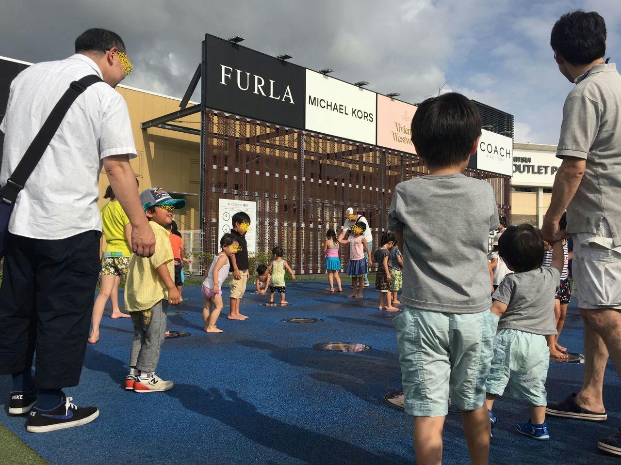 子連れの夏の木更津アウトレットは水遊びがおすすめ
