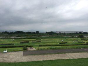 ミニゴルフ場です。ミニなのに大きい!