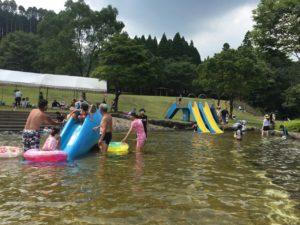 法華嶽公園のじゃぶじゃぶ池で水遊び!河川プールもありました
