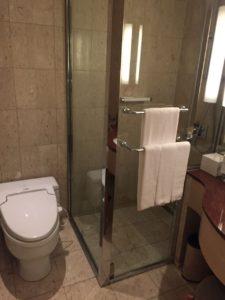 ばするーむを入って左側がトイレ。タンクレスのもちろんシャワートイレですね。