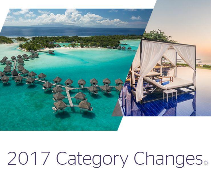 2017年SPGホテルカテゴリー変更|国内ホテルは16/21ホテルでカテゴリーアップ