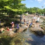 府中市郷土の森博物館のじゃぶじゃぶ池で水遊び|水遊びが一年中楽しめるスポット