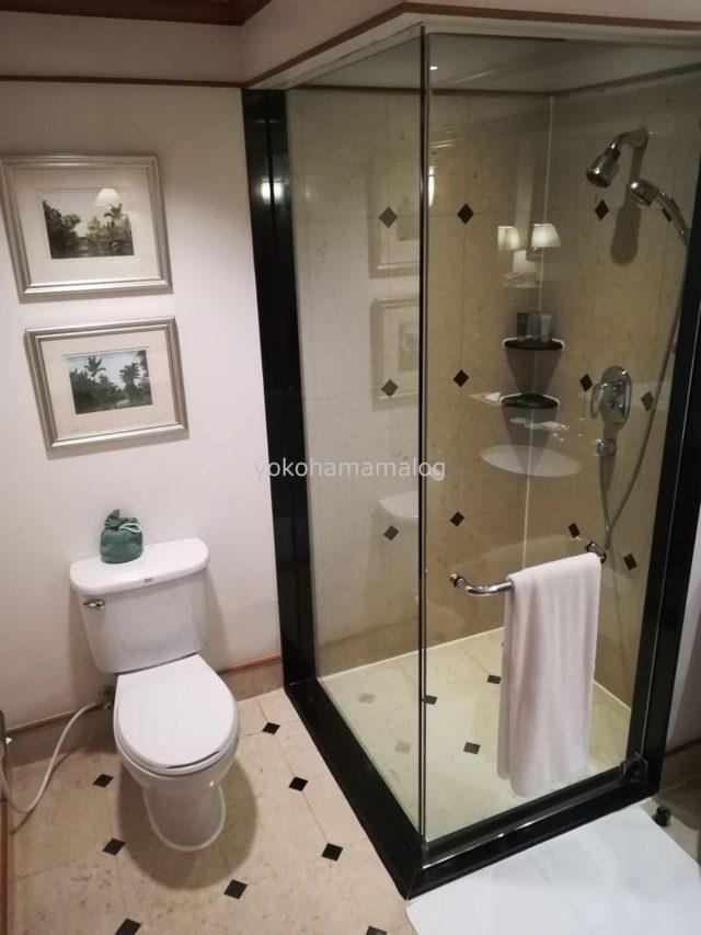 シャワーブースは独立。トイレがセパレートでないのが残念です。