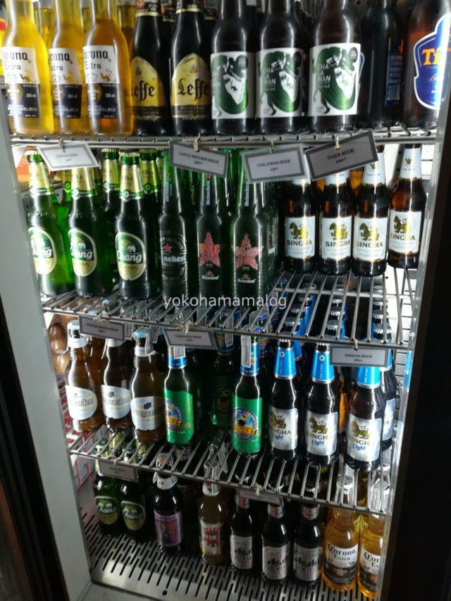 ビールなども購入できます。ビールは180バーツぐらいでした。