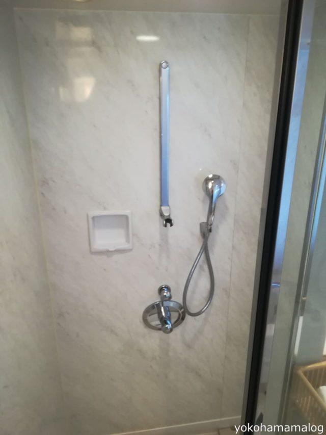 シャワーブースも独立しています。