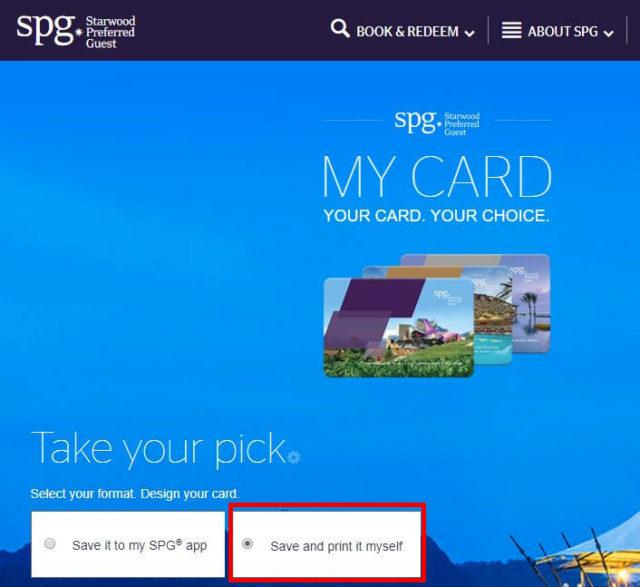 SPG公式サイト(英語)より「Save and print it myself」を選択して進めてください。