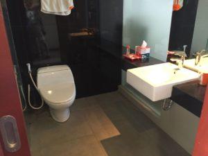 トイレと洗面台。ウォシュレットではありません。