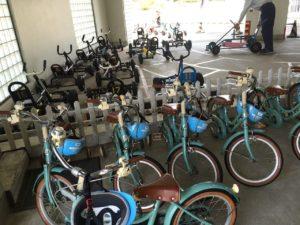 自転車もたくさんのサイズがあります。お子様が何インチの自転車に乗れるかを確認するにも良いかも。