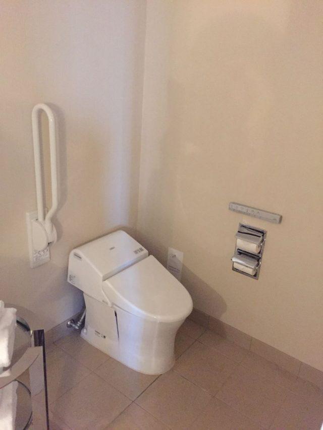 トイレがセパレートでないのがちょっと残念です。これだけ広いのに。