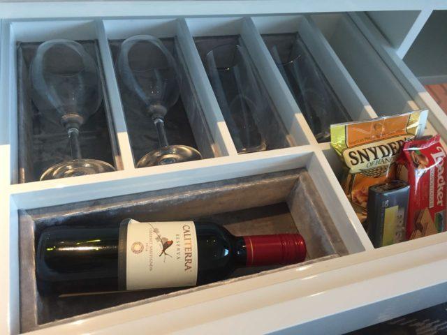 ワインのボトルもおいてありました。