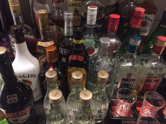 お酒類も充実しています。日本酒などもおいてありました。