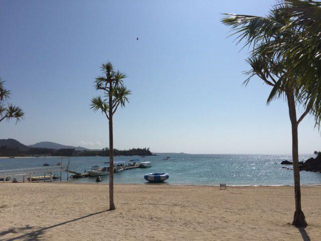 かりゆしビーチのアクティビティゾーン。
