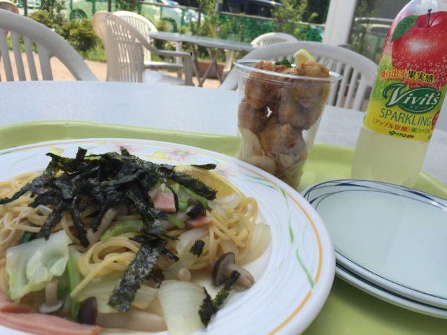 Bランチ(府中野菜のスパゲッティ)550円。