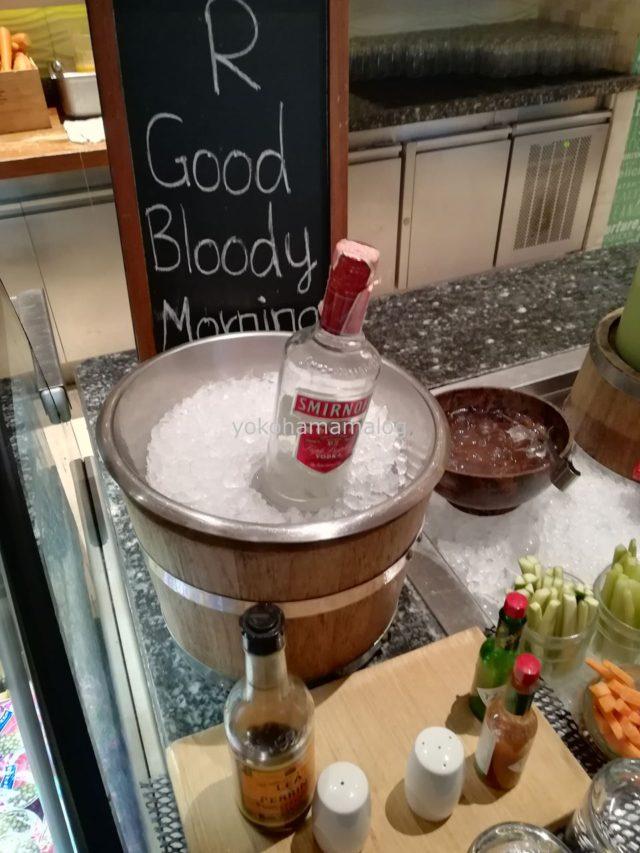 ネッサンスプーケットルの看板メニュー「Good Bloody Morning」。朝からブラッディマリーをいただきます。