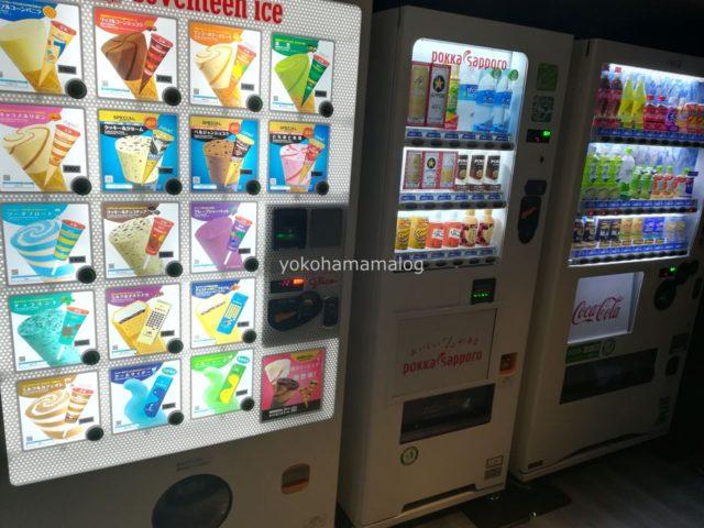 温泉等近くの自動販売機にはアイスが売っています