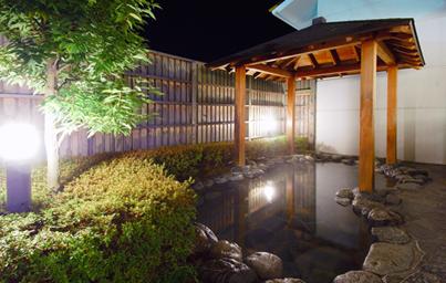 ラフォーレ修善寺の森の湯。こちらは露天風呂があります。