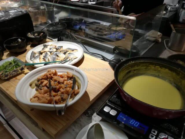 軽井沢マリオットの朝食。和食ゾーン