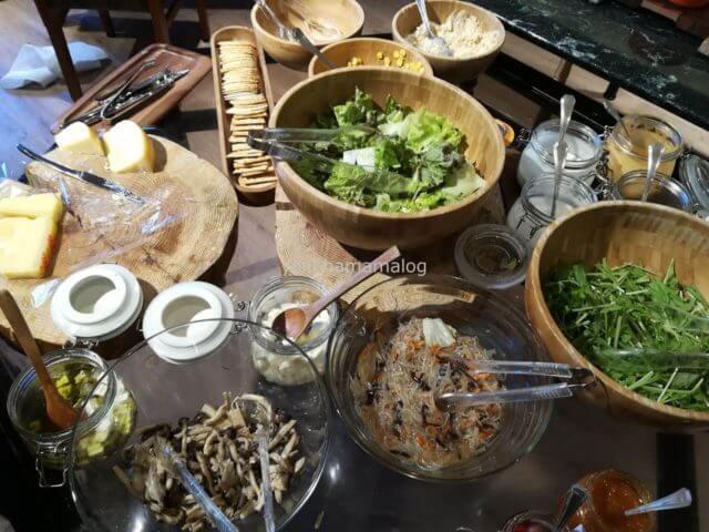 軽井沢マリオットの朝食。サラダ編。