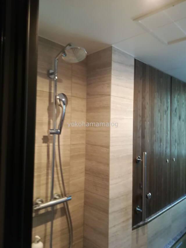 浴槽の手前にはシャワーがあります。