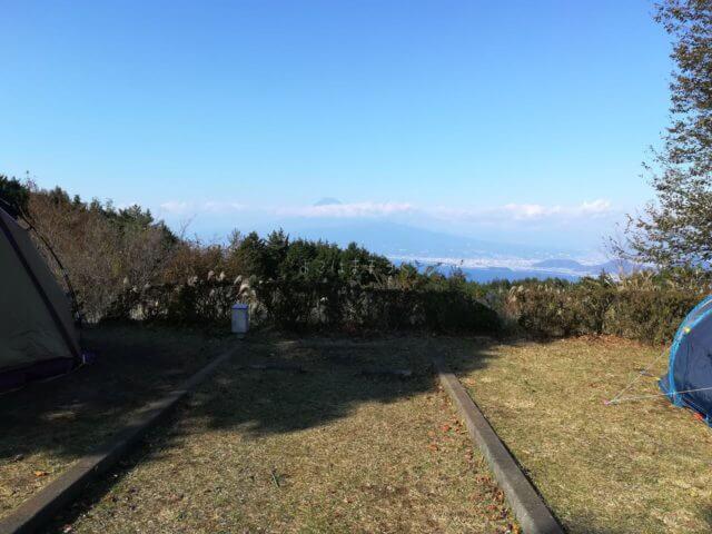 だるま山高原キャンプ場からの富士山