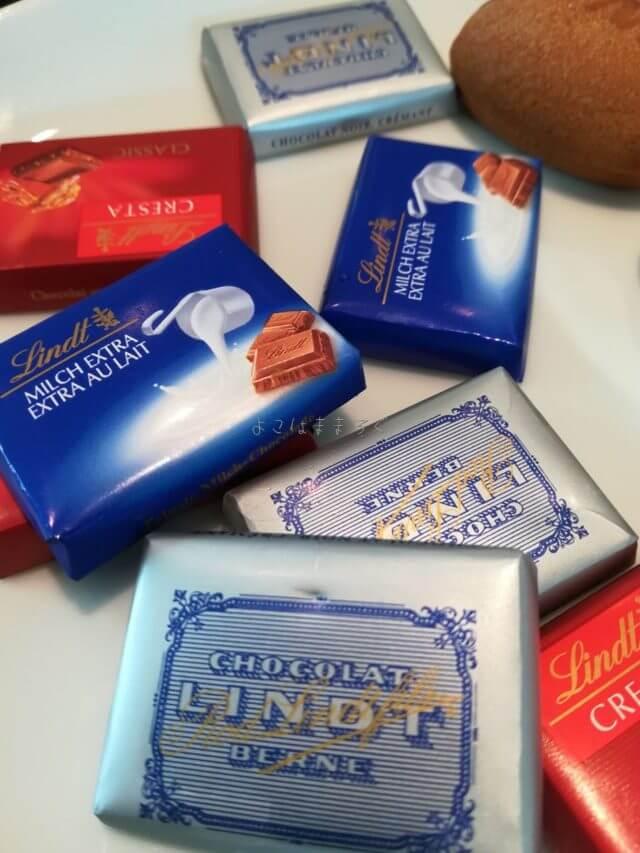羽田空港国際線ANAラウンジの子どもメニューのチョコレート