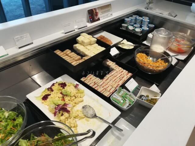 羽田空港国際線ANAラウンジの朝食メニュー