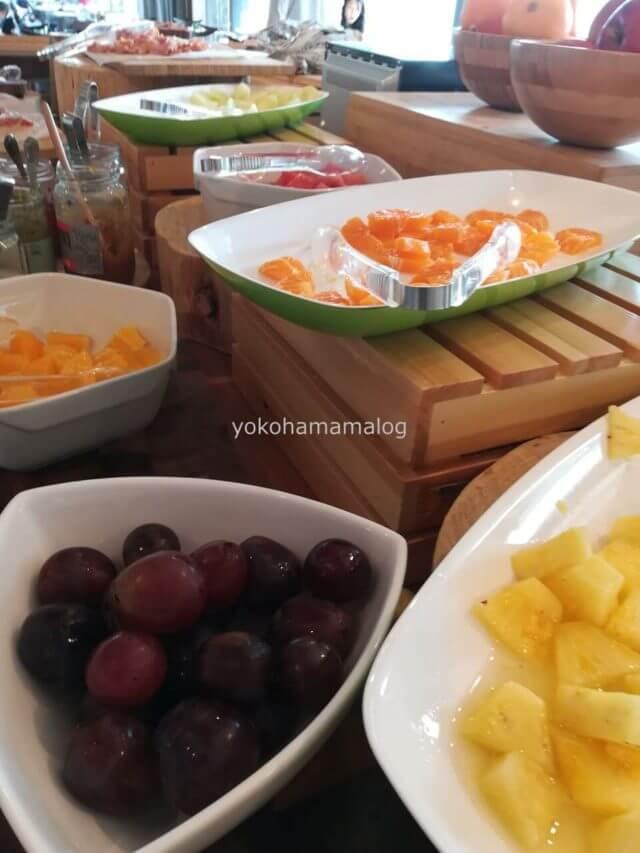 伊豆マリオット修善寺のフルーツ。ブドウがおススメ。