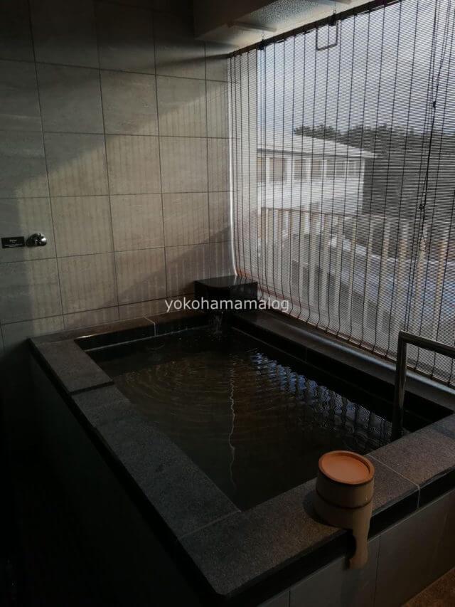 伊豆マリオット修善寺の温泉。けっこう大きいです。