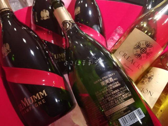 東京マリオットの新ラウンジのシャンパン「マム グラン コルドン」