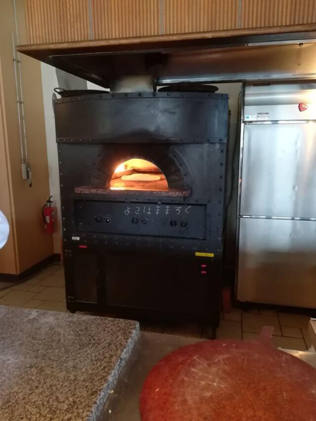 ピザ窯もあります。