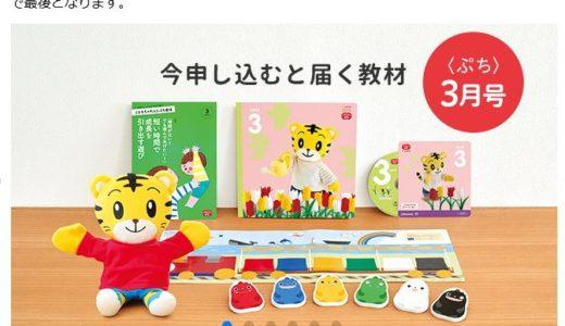 こどもちゃれんじは「ぷち(2歳コース)3月号」までに始めよう!