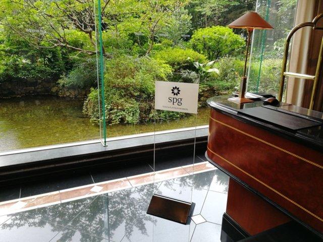 ウエスティン東京ではspgチェックインカウンターがありました。