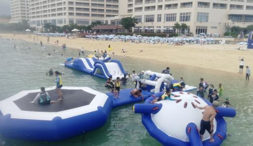 リザンシーパークホテルの海上アスレチックを子連れで楽しむコツ10選